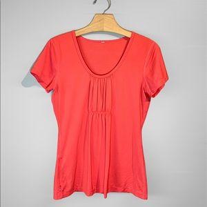 Lululemon Top Short Sleeve Shirt Orange Size 12